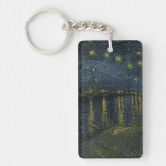 Starry Night Over the Rhone - Van Gogh Keychain
