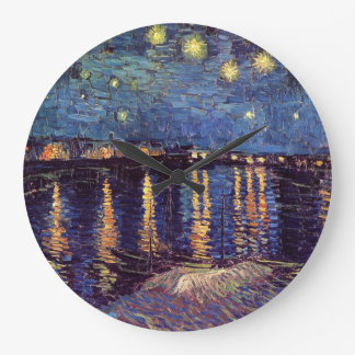 Starry Night Over the Rhone - Van Gogh Large Clock