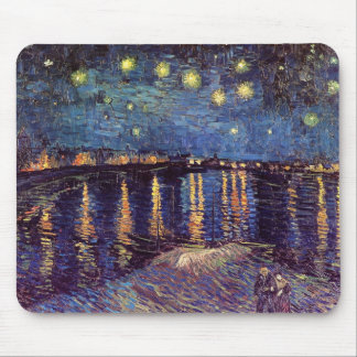 Starry Night Over the Rhone - Van Gogh Mouse Pad