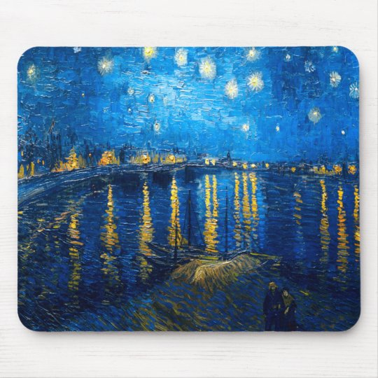 Starry Night Over the Rhone, Van Gogh Mouse Pad