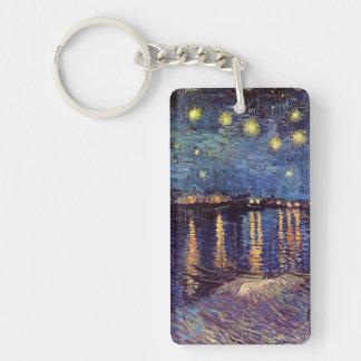 Starry Night Over the Rhone - Van Gogh Single-Sided Rectangular Acrylic Keychain