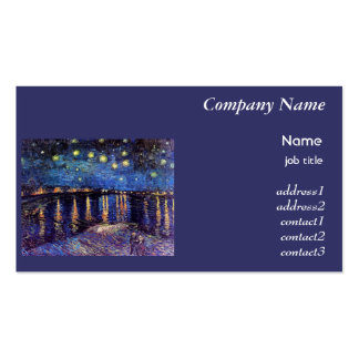 Starry Night over the Rhone, Vincent Van Gogh Business Card