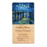 Starry Night over the Rhone Vincent van Gogh Labels