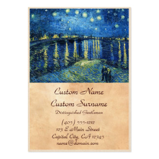 Starry Night over the Rhone Vincent van Gogh Large Business Card