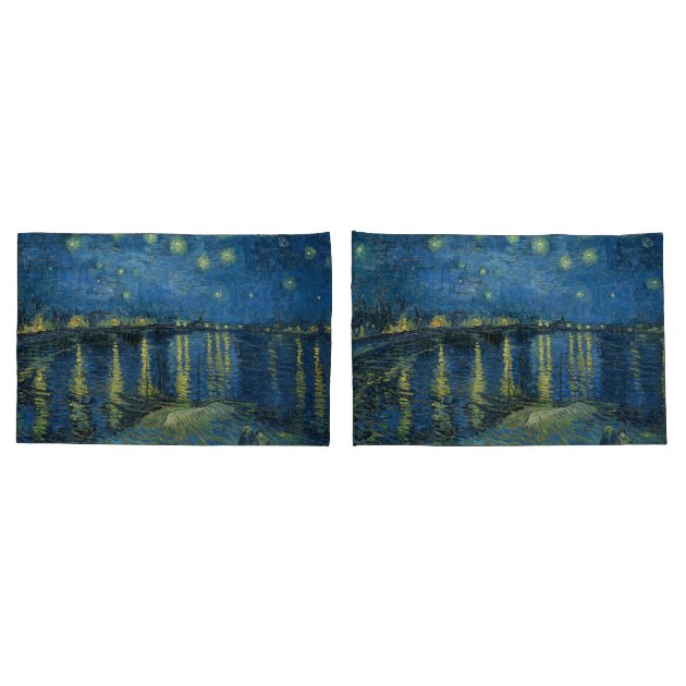 Vincent Van Gogh Starry Night Painting Pillow Case Sham Cover