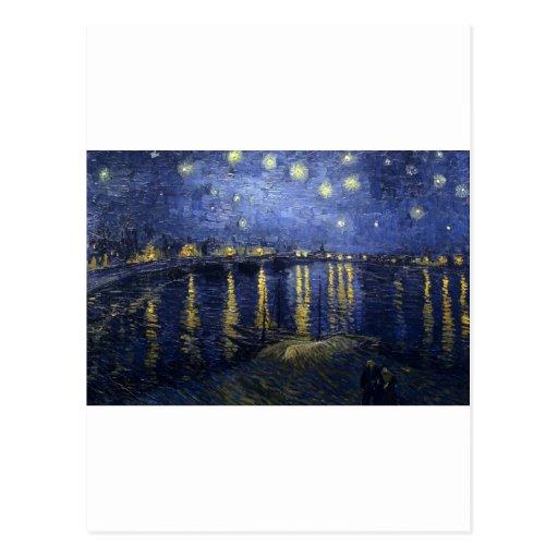 Starry Night Over the Rhone - Vincent Van Gogh Postcard