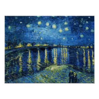 Starry Night over the Rhone Vincent van Gogh Poster