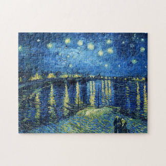 Starry Night over the Rhone Vincent van Gogh Puzzle