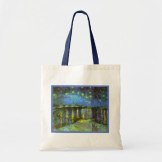 Starry Night Over the River Rhone Van Gogh Canvas Bags