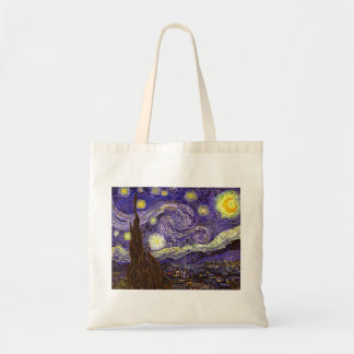 Starry Night painting by artist Vincent Van Gogh Bags
