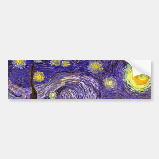 Starry Night painting by artist Vincent Van Gogh Car Bumper Sticker