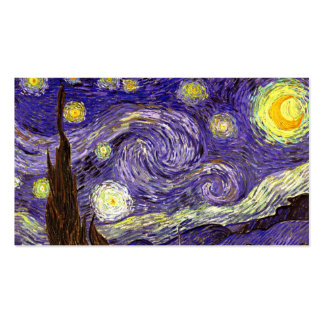 Starry Night painting by artist Vincent Van Gogh Double-Sided Standard Business Cards (Pack Of 100)