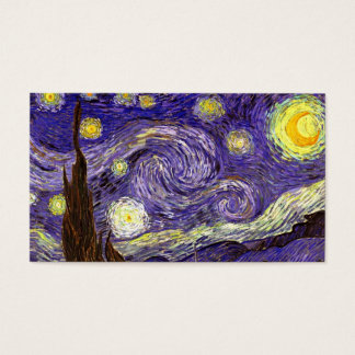 Starry Night painting by artist Vincent Van Gogh Business Card