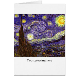 Starry Night painting by artist Vincent Van Gogh Greeting Card