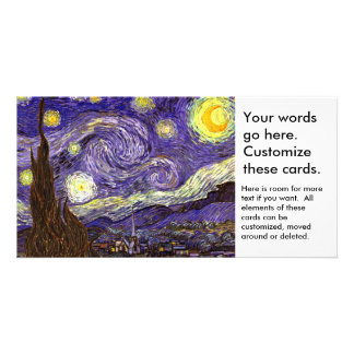Starry Night painting by artist Vincent Van Gogh Card