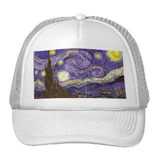 Starry Night painting by artist Vincent Van Gogh Hat