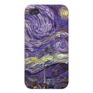 Starry Night painting by artist Vincent Van Gogh iPhone 4/4S Case