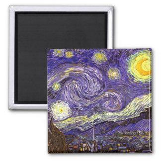 Starry Night painting by artist Vincent Van Gogh Fridge Magnet