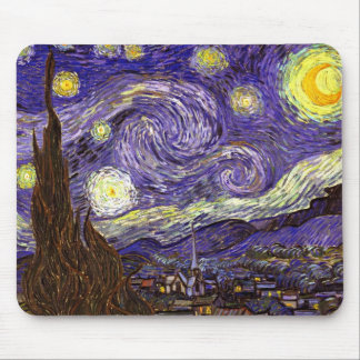Starry Night painting by artist Vincent Van Gogh Mouse Pad