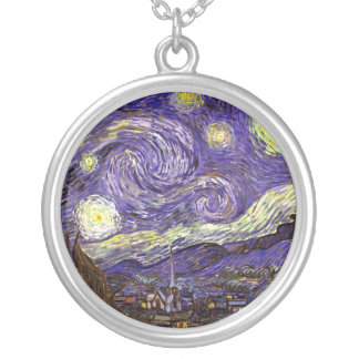 Starry Night painting by artist Vincent Van Gogh Pendant