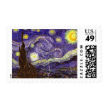 Starry Night painting by artist Vincent Van Gogh Stamps