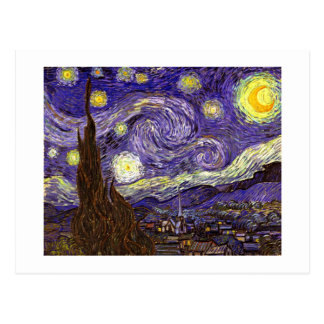Starry Night painting by artist Vincent Van Gogh Postcard