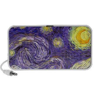 Starry Night painting by artist Vincent Van Gogh Travel Speaker