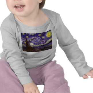 Starry Night painting by artist Vincent Van Gogh Tshirts