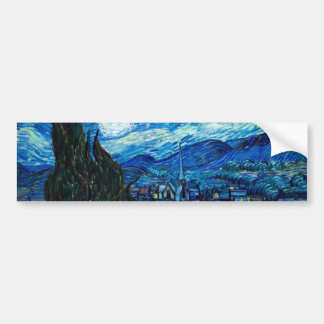 Starry Night Painting By Painter Vincent Van Gogh Bumper Sticker