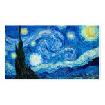 Starry Night Painting By Painter Vincent Van Gogh Double-Sided Standard Business Cards (Pack Of 100)