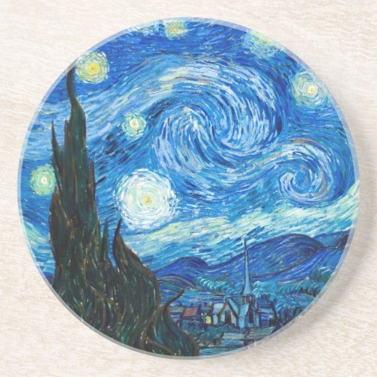 Starry Night Painting By Painter Vincent Van Gogh Coaster