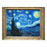 Starry Night Painting By Painter Vincent Van Gogh Flyer Design