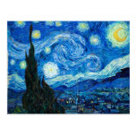 Starry Night Painting By Painter Vincent Van Gogh Postcard