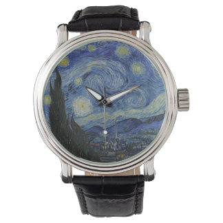 Starry night painting Van Gogh Wristwatch