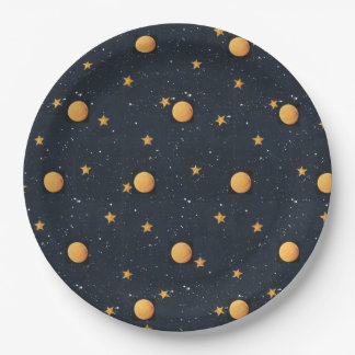 Starry Night Paper Plate