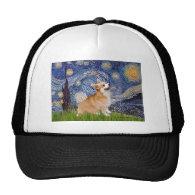 Starry Night - Pembroke Welsh Corgi 7b Mesh Hats