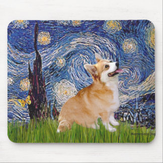 Starry Night - Pembroke Welsh Corgi 7b Mouse Pad