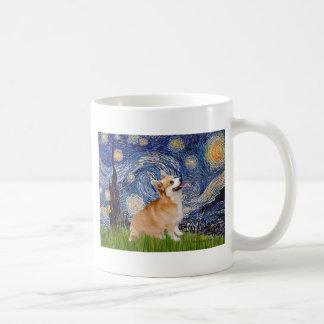 Starry Night - Pembroke Welsh Corgi 7b Classic White Coffee Mug