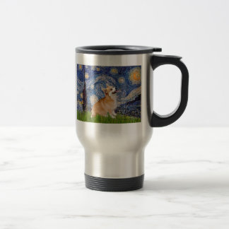Starry Night - Pembroke Welsh Corgi 7b Travel Mug