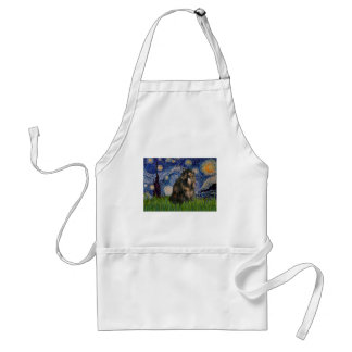 Starry Night - Persian Calico cat Adult Apron