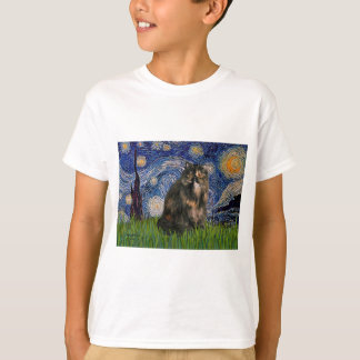 Starry Night - Persian Calico cat T-Shirt