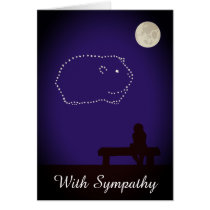 Starry Night Pet Guinea Pig Sympathy Card