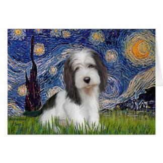 Starry Night - Petit Basset (PBGV) Card