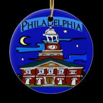 Starry Night Philadelphia Moon ornaments