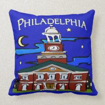 Starry Night Philadelphia Moon pillows