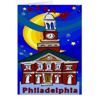 Starry Night Philadelphia Santa Card
