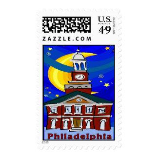 Starry Night Philadelphia Stamp