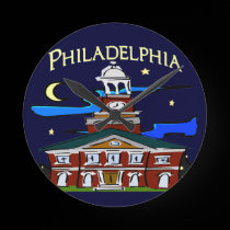 Starry Night Philly Moon wall clocks