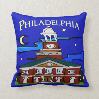 Starry Night Philly Moon Throw Pillow