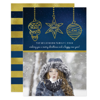 Starry Night Photo Christmas Spirit | Holiday Card